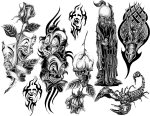 Biomechanical Drawing Full Sleeve Tattoo Design - Tattoo Sleeves Transparent Background, HD Png Download