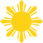 Sun Design Png - Star Of The Philippines, Transparent Png