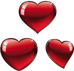 February Clipart Heart Shape Design - Valentines Hearts Png, Transparent Png