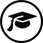 Live Streaming In Education - Education Icon In Circle Png, Transparent Png