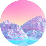 #pink #circle #icon #blue #purple #freetoedit - Aesthetic Mountains Png, Transparent Png