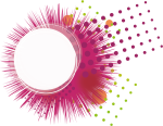 Banner Black And White Library Transprent Png Free - Abstract Circle Border Design Pink Png, Transparent Png