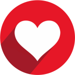 Facebook Heart Symbols Icons Pictures To Pin On Pinterest - Youtube Circle Logo Png, Transparent Png