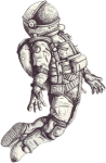 Astronaut Floating Png - Astronaut Tattoo Drawing, Transparent Png