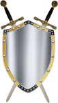 Medieval Swords Clipart - Middle Ages Shield And Sword, HD Png Download