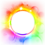 Cadres Photoshop Effects, Tutorials, Image, Polyvore, - Colorful Circle Border, HD Png Download