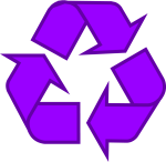 Clip Art Black And White Download Symbol The Original - Recycle Symbol Purple, HD Png Download