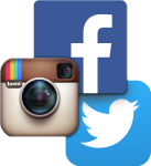 Instagram Facebook And Twitter Icons , Png Download - Social Media Facebook Twitter Instagram Png, Transparent Png