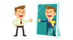 Top Companies Like Google, Facebook, And Disneyland - Cartoon Confident Person Confident, HD Png Download