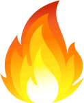 Iphone Fire Emoji Png Clipart , Png Download - Flame Fire Clipart, Transparent Png