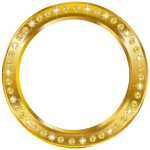 Free Png Download Round Frame Border Gold Clipart Png - Circle, Transparent Png