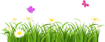 Svg Free Download White Clover Flower Grasses Lawn - Grass And Flowers Clipart, HD Png Download