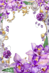Purple Flower Borders And Frames - Purple Flowers Borders And Frames, HD Png Download