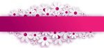 Pink Flower Powerpoint Template, HD Png Download