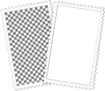 #template #polaroid #frame #overlay - Black And White Checkered Rectangle, HD Png Download