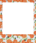 Aesthetic Clipart Peach - Cute Polaroid Frame Transparent, HD Png Download
