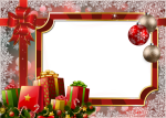 Transparent Holiday Frames - Flower Merry Christmas Frame, HD Png Download