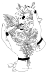Aesthetic Tattoo Png Photo - Outline Drawings Of Nature, Transparent Png