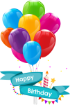 Colorful Balloons Transparent Background Png - Vector Birthday Card Png, Png Download