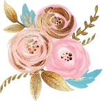 Free Png Download Rose Gold Watercolor Floral Png Images - Floral Watercolor Rose Gold, Transparent Png