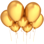 Birthday Wishes Gold Party Balloons - Gold Balloon Png Transparent Background, Png Download