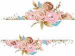 Free Png Download Watercolor Flower Gold Png Images - Rose Gold Watercolor Floral, Transparent Png