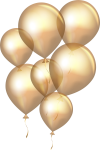 Transparent Gold Balloon Png, Png Download