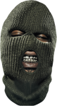 #young #buck #gunit #skimask #gold #teeth #grillz , - Ski Mask And Grill, HD Png Download
