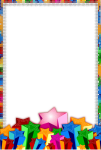 4shared Borders For Paper, Borders And Frames, Page - Stars Frames And Borders Clipart Png, Transparent Png