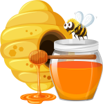 Graphic Free Download Honey Cartoon With Transprent - Honey Bee Cartoon Png, Transparent Png