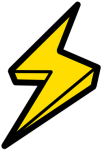 Graphic Lightning Bolt - Electricity Clipart Transparent, HD Png Download