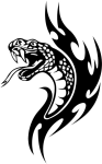 Share This Article - Tribal Snake Tattoo Designs, HD Png Download