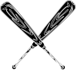Vector Black And White Download Art Image Group Vector - Stick Baseball Logo, HD Png Download