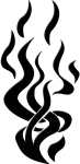 Flames Silhouette Shape Fire Art Artwork Graphic - Flame Silhouette Png, Transparent Png