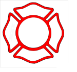 19 Firefighter Badge Graphic Black And White Download - Blank Fire Department Logo, HD Png Download