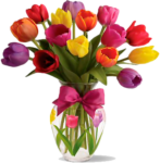 001 Flower Designs Vase Archaicawful Picsart Full - Spring Tulips, HD Png Download