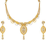 Orra Gold Set Necklace Designs - Latest Kitty Set Designs In Gold, HD Png Download