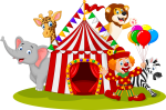 Graphic Transparent Download Circus Cannon Clipart - Cartoon Circus Png, Png Download