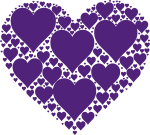 Graphic Royalty Free Download In Heart Purple Big Image - Purple Hearts, HD Png Download