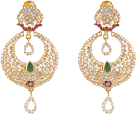 Indian Gold Jewellery Designs - Earrings, HD Png Download