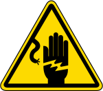 Graphic Royalty Free Electrical Shock Warning Label - Electric Shock Hazard Sign, HD Png Download