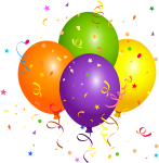 Graphic Royalty Free Library Stunning Free Pictures - Balloons With Confetti Png, Transparent Png