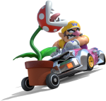 Graphic Black And White Download Image Kart Png Mariowiki - Mario Kart 8 Deluxe Wario, Transparent Png