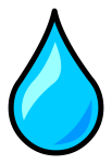 Graphic Blue Free On Dumielauxepices Net - Simple Water Drop Outline, HD Png Download