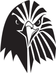 The Supremes Images Eagle Logo Template Black And White - Eagle Vector Logo Png, Transparent Png