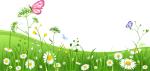 Grass - Green Grass With Flower Background Png, Transparent Png