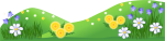 Grass Field Cliparts - Ground Grass With Flower, HD Png Download