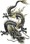 Tattoo Japanese Chinese Dragon Free Frame Clipart - Dragon Tattoo Design, HD Png Download