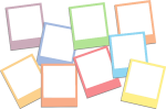 #polaroid #colorful #cute #frame #instax #rainbow #overlay - Transparent Polaroid Overlay Png, Png Download