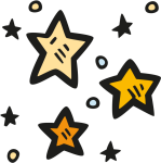 Stars Icon - Clipart Hand Drawn Star, HD Png Download
